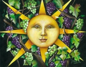 sun and grapes